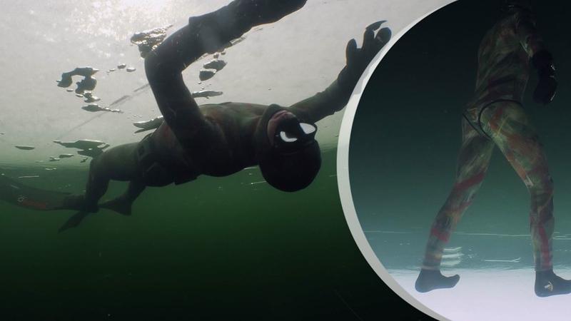TV4-Nyheterna: Magiska scener under isen – när fridykaren Jimmy börjar dansa