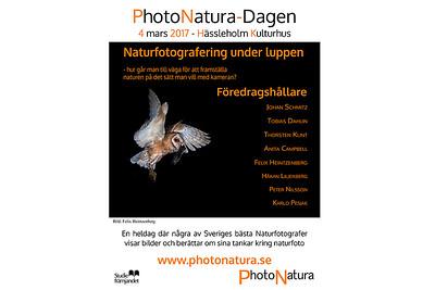 Föredrag på PhotoNatura-dagen i Hässleholm, 4:e mars 2017