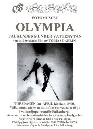Filmen FALKENBERG - UNDER VATTENYTAN premiärvisad på fotomuseet Olympia den 1:a april 2004<br /> Kamera och berättarröst: Tobias Dahlin<br /> Musik och redigering: Anders Bengtsander