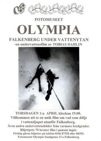 Filmen FALKENBERG - UNDER VATTENYTAN premiärvisad på fotomuseet Olympia den 1:a april 2004<br /> Kamera och berättarröst: Tobias Dahlin<br /> Musik och redigering: Anders Bengtsander
