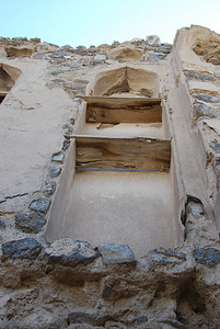 This was once part of the upper storey of the house, the floor has long gone.