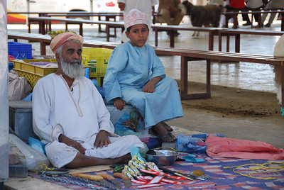 Grandfather and grandson at the Sina Souq.