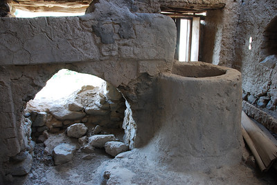 The well inside one of the houses.  It was very deep and it took about 3 seconds for a stone dropped from the top to hit the bottom.