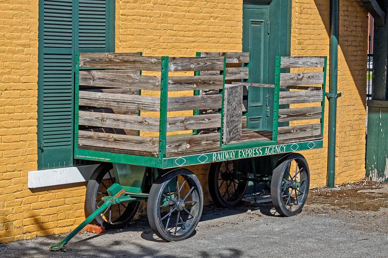 Luggage Cart at Huntsville Depot