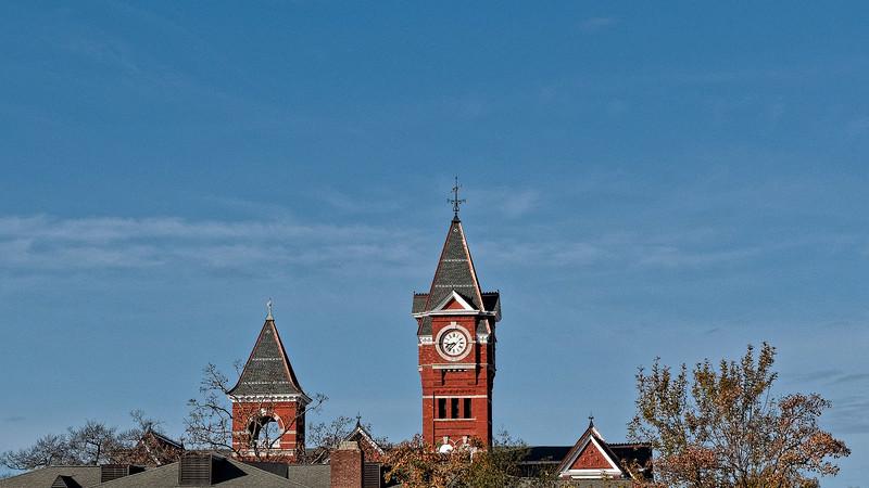 Samford Hall on Auburn Skyline