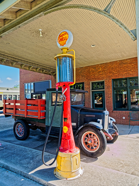 Super Shell Gas Pump at Huntsville Depot