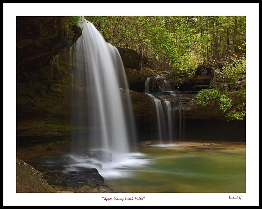"""""""Upper Caney Creek Falls""""<br /> <br /> Bankhead National Forest,<br /> Alabama<br /> <br /> 13 April 2006"""