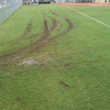 One trip out in the Jacobsen, to drag Field 5 infield between games, is all it took to confirm that it's unwise to drive vehicles on the fields.