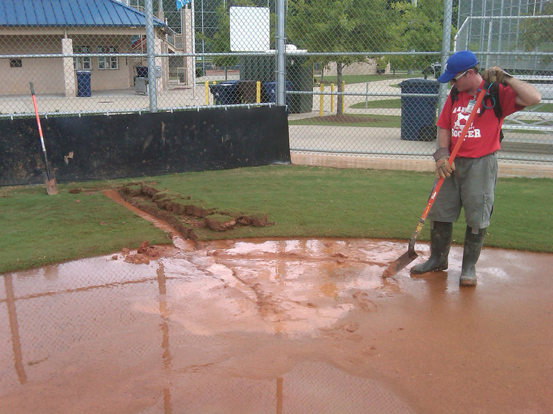 Field 3 Home Plate looked like a lake... totally submerged.