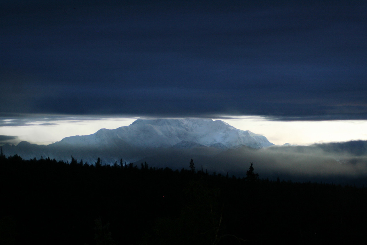 mt. mckinley @ 2:30am before the clouds roll in