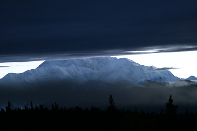 mt. mckinley @ 2:30am as the clouds roll in