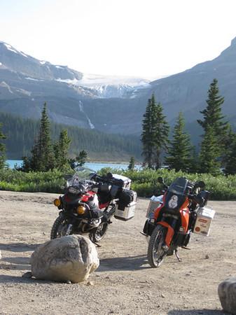bikes at bow lake