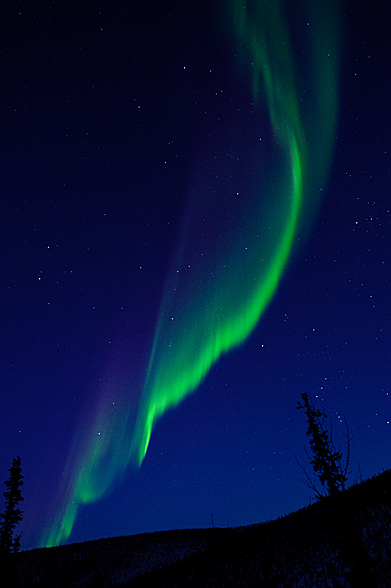 Magical aurora borealis taken by Scott (2/18/2012) Note the purple fringe which is infrequently seen