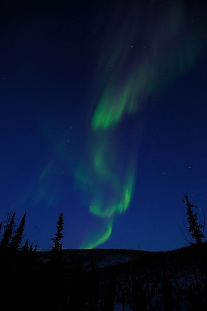 Dancing lights taken by Scott (2/18/2012) crystal clear sky and extra intense aurora