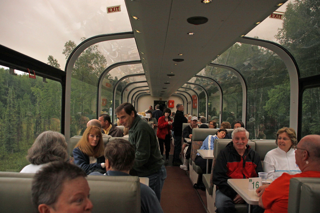 Inside a Princess rail car