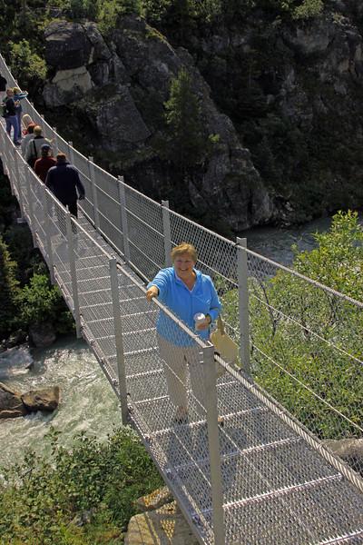 Rae Rae on the suspension bridge