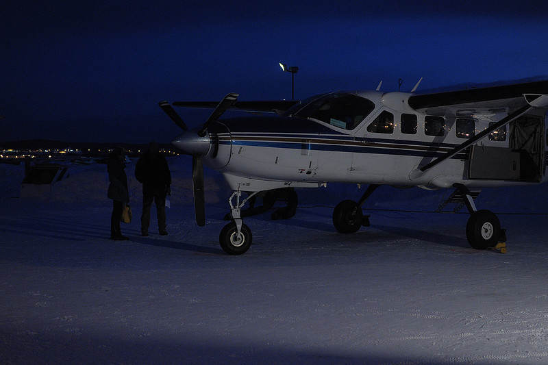 Preparing for our pre-dawn flight to Anaktuvuk Pass - a native village located above the Arctic Circle that is only accessible by air due to lack of roads...