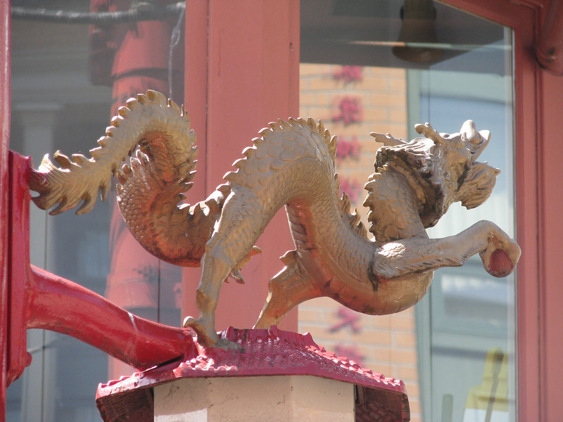 Top of Vancouver Chinatown Street Post Signs