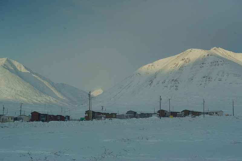 Anaktuvuk Pass, Eskimo village only accessible by plane. 250-300 residents. One grocery. Everything costs $9 a pound.