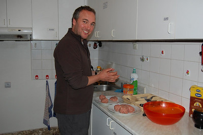 After an ordeal getting into Tirana, James gets handy in the kitchen making burgers for the bbq.
