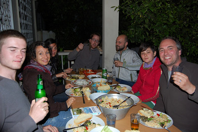 BBQ for Greg's (far left) 19th birthday. Joined by Elka and Juliet (German and living in Tirana); Fraiser (in Tirana working on a thesis); and Claas and Lira (hostel owners).