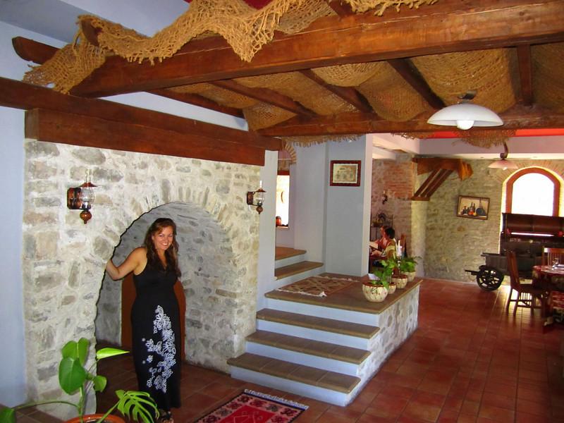 Inside restaurant in Elbasan castle