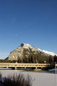 Rundle mount and bow river. What a difference a day makes, part 1...