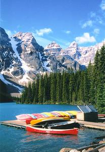 """Sepia shmeepia."" Lake Moraine, Alberta, Canada"
