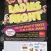 Poster for a play in Albury, NSW in October 2017. Ladies Night: Find out what it takes to be a real man