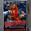 Halloween party poster at One Nightlife club in Albury, NSW in October 2017