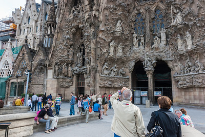 Another view of rear facade of La Sagrada Familia.  I spent hours there amazed at the skills and devotion of the artisans that did this work