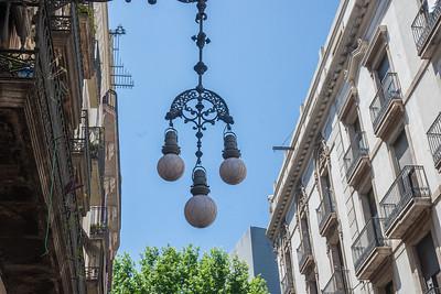 Gaudi designed street lamp