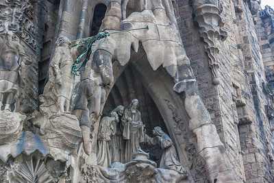 One of the Bible events carved in stone at La Sagrada Familia.