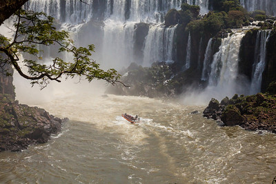 Iguazu Falls, Argentina.  I took this ride, it was unbelievable.  I got soaked.