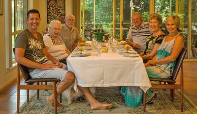 Dinner at the farm with Mark, Bart, Elaine, Aleta, Carol, Fred -  on Thursday night just before the wedding