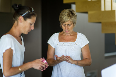 Aleta & Cherie, getting organised
