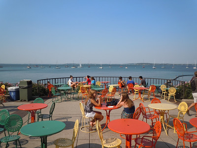 The terrace at the Memorial Union