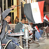 Some preferred to just view the spectacle from the cafe's along Corniche, enjoying a coffee and a shisha.