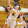 Alexandria's Peyton Quinn drives for a layup as the Tigers hosted the Marion Giants on Wednesday.