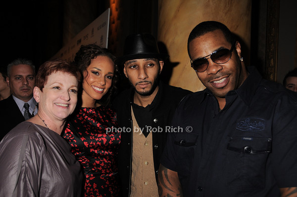 Terri Augello , Alicia Keys, Busta Rhymes, Swizz Beatz<br /> photo by Rob Rich © 2010 robwayne1@aol.com 516-676-3939