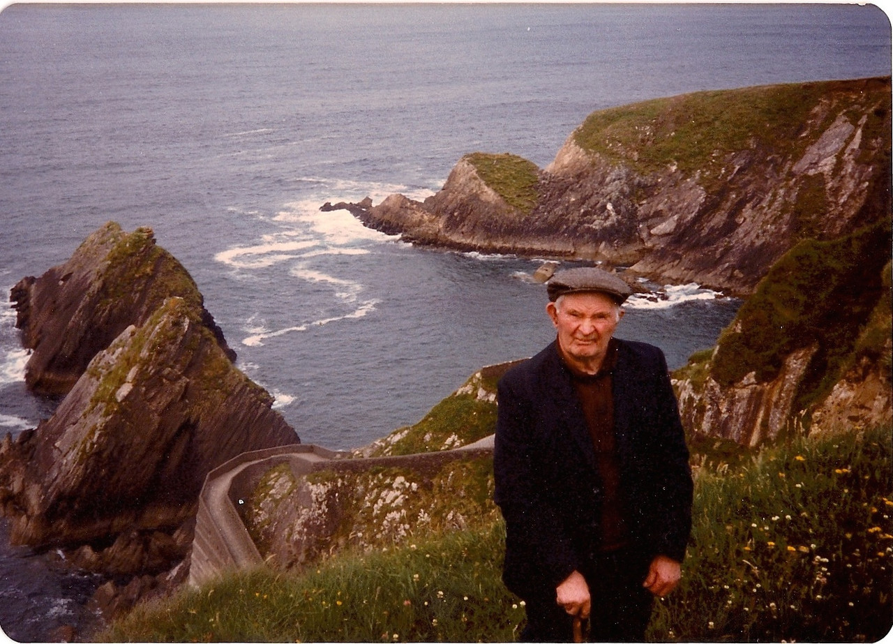 Dad in Dunquin at 90+