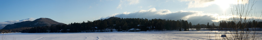 Took several photos near our hotel in Lake Placid.  It was as cold as it looks.