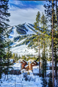 Stayed at an amazing place in Winter Park, Colorado.  It had an amazing view of the slopes on the mountain with some really nice winter homes in the foreground