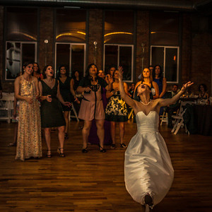 I loved her expression as I caught her tossing the bouquet.