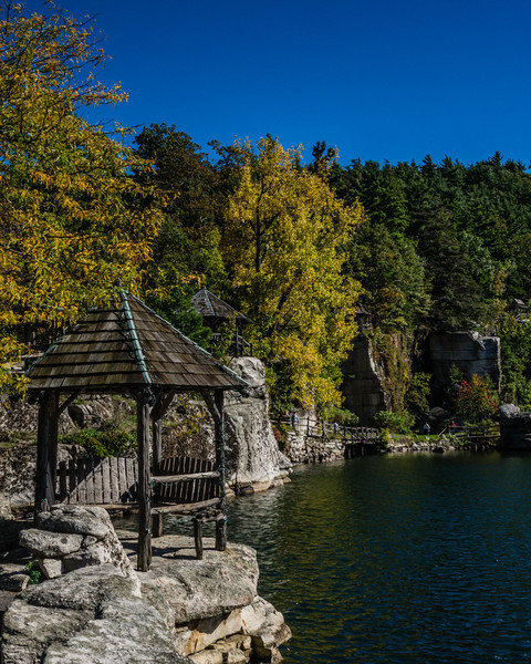 This Gazebo is on the ledge on Mohonk Lake