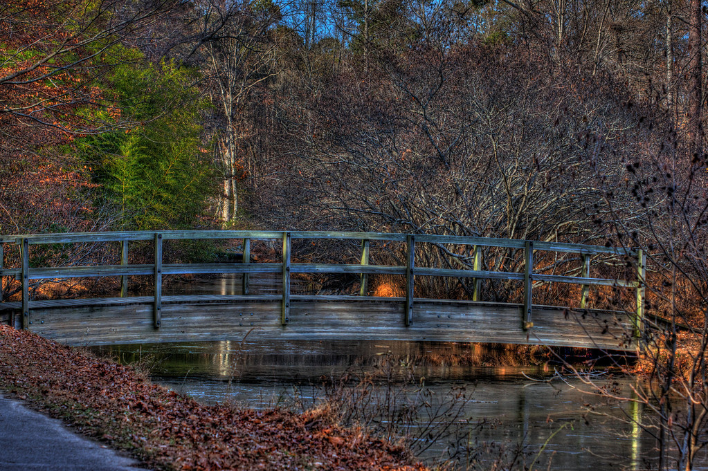 This is a nice old looking bridge in North Carolina.