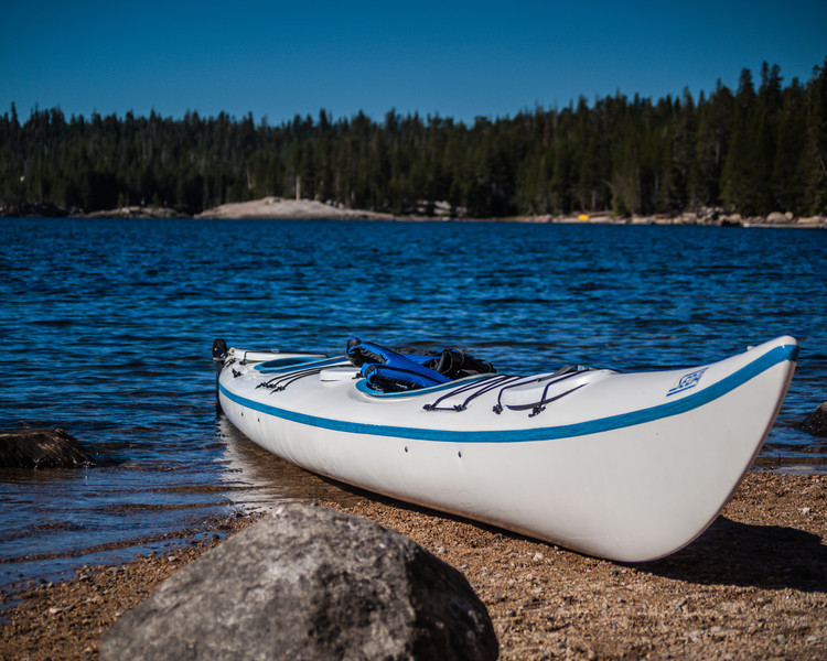 Our friend Cari took this canoe over and married Nate right behind where I took this photo.