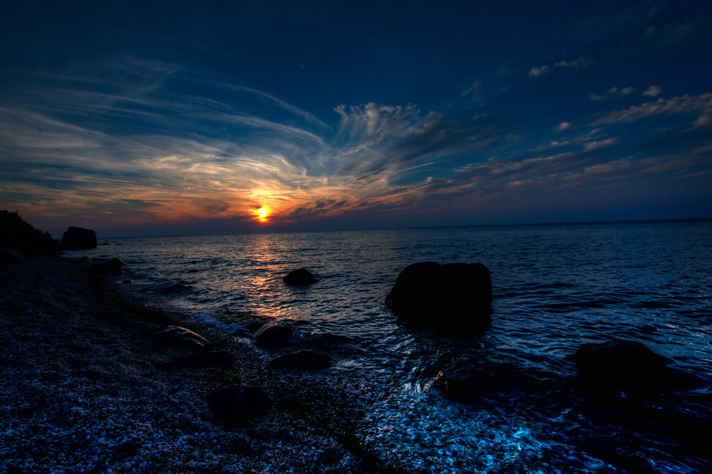 This is a sunset view over the Long Island Sound turned into a cool HDR.