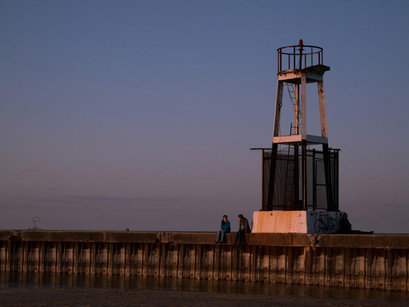 A closer look at the lighthouse.