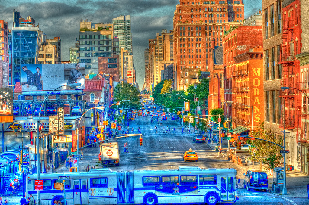A freaky photo of a view from the high line in NYC